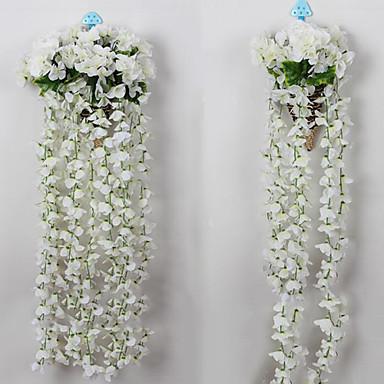 billige Kunstige blomster-Kunstige blomster 1 Gren Enkel Stil Hortensiaer Veggblomst