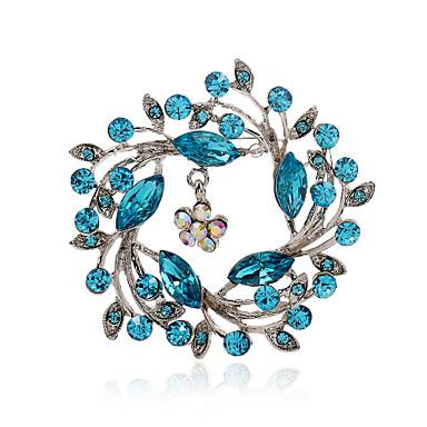 Mulheres - Strass, Imitações de Diamante Luxo, Europeu, Fashion Broche Rosa claro / Azul marinho / Azul Claro Para Festa / Diário / Casual