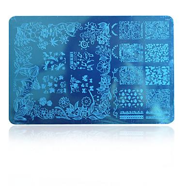 5pcs arte nova imagem Beleza prego placas de carimbo de moda projeta modelos de polimento de ferramentas di hk10 entrega aleatória hk