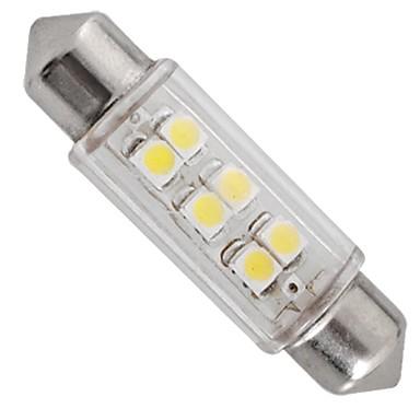 LED 자동차 인테리어 조명 12V 흰색 6 SMD LED가 자동차 돔 꽃줄 전구 램프 39mm (2 개)