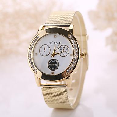 Herrn Damen Modeuhr Quartz Armbanduhren für den Alltag Edelstahl Band Böhmische Silber Gold