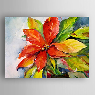 Oil Painting Leaves Hand Painted Canvas with Stretched Framed Ready to Hang