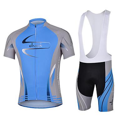 cheji® Biciklistička majica s kratkim tregericama Muškarci Kratkih rukava Bicikl Bib Shorts Rukavi Biciklistička majica Kompleti odjeće