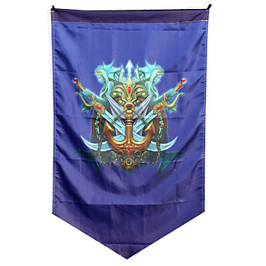 Cosplay Accessories Inspired by LOL Cosplay Anime / Video Games Cosplay Accessories Flag Woolen Men's