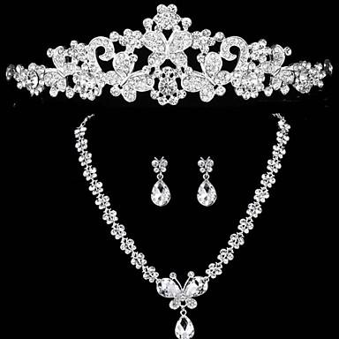 häät koruja timantti kolmiosainen puku morsiamen korusetti