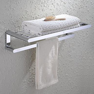 Havlu Çubuğu Banyo Rafı / Krom Çağdaş