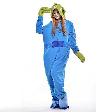 Kigurumi-Pyjamas Blaues Monster / Monster Pyjamas-Einteiler Kostüm Polar-Fleece Cosplay Für Erwachsene Tiernachtwäsche Karikatur Halloween