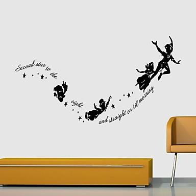Mennesker Dyr Still Life Romantik Mote Former fantasi fritid Tegneserie Højtid Vintage Veggklistremerker 3D Mur Klistremerker Dekorative