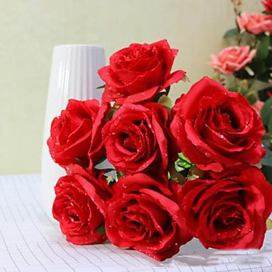 şube Polyester Güller Masaüstü Çiçeği Yapay Çiçekler