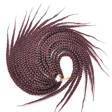 Hår til fletning Box Braids Afro Frekke Fletter 100% kanekalon hår / Kanekalon 20 røtter / pakke Hårfletter