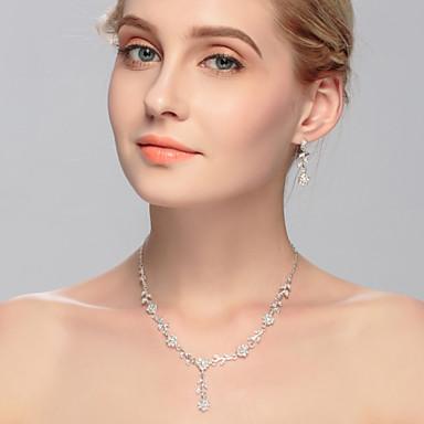 Mulheres Gema Conjunto de jóias - Outros Prateado