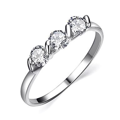 abordables Bague-Cristal Imitation Diamant dames Pierres de naissance Bagues Tendance Bijoux Argent Doré pour