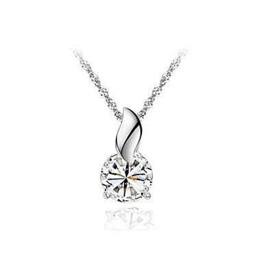 Kadın Uçlu Kolyeler Kristal alaşım Mücevher Için Düğün Parti Günlük 1pc