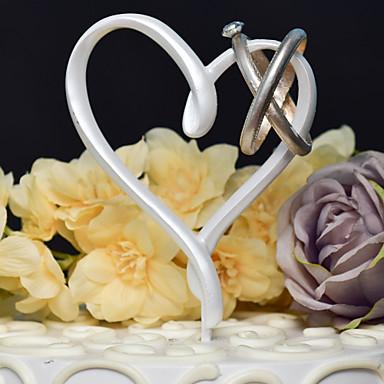 Kakepynt Klassisk Tema Hjerter Harpiks Bryllup med 1 Gaveeske