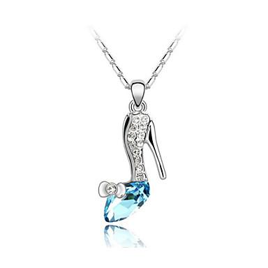 austrija kristalne cipele s visokom petom ispusti privjesak ogrlica, fini nakit
