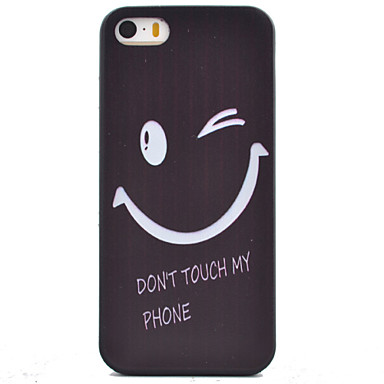 Varten iPhone 5 kotelo Kuvio Etui Takakuori Etui Sana / lause Pehmeä TPU varten iPhone SE/5s iPhone 5
