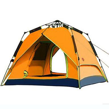 Shamocamel® 3-4 osoba Šator Dvaput šator za kampiranje Vanjski Automatski šator Vodootporno Vjetronepropusnost Ultraviolet Resistant za