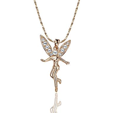 Damen Kristall Anhängerketten - Diamantimitate Silber, Rotgold Modische Halsketten Für