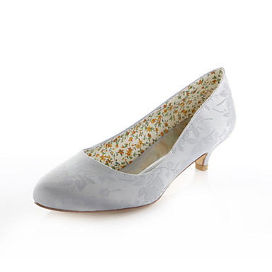 Women's Stretch Satin Spring / Summer Low Heel / Purple / Light Blue / Heel Ivory / Wedding / Party & Evening 6b6c1a