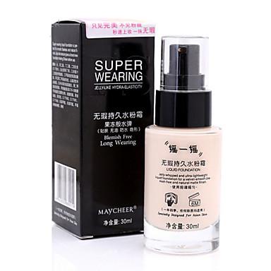 Einfarbig Flüssigkeit Nass / Matt / Kombination Abdeckung / Lang anhaltend / Concealer Gesicht China Bilden Kosmetikum