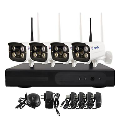 yanse® WiFi IP-kamera NVR kit 720p valvontakamerat videcam sisä- ir valvontakamera Itsepuolustus turvakamerat