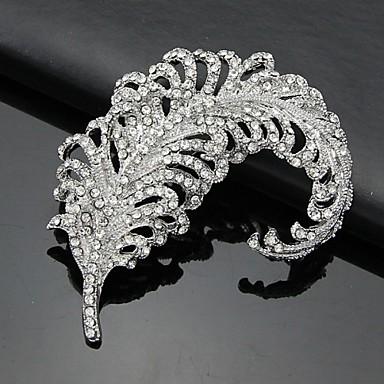 Mulheres 3D Broches - Broche Branco Para Negócio / Cerimônia / Casamento
