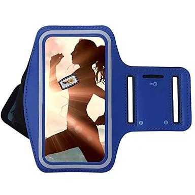 מגן עבור אוניברסלי עם חלון סרט זרוע רצועת יד צבע אחיד רך טֶקסטִיל ל S8 Plus S8 S7 edge S7 S6 edge plus S6 edge S6 S5 S4 S3
