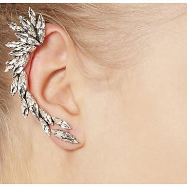 voordelige Dames Sieraden-Dames Oor manchetten Oor klimmers Klimmer oorbellen Dames Modieus Elegant Dagelijks Strass oorbellen Sieraden Zilver Voor Dagelijks