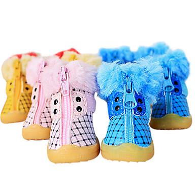 Cachorro Sapatos e Botas Fashion Amarelo Vermelho Para animais de estimação