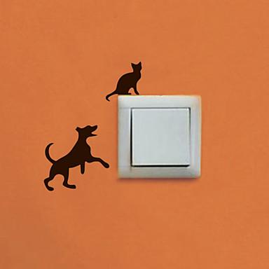 Animais / Formas Wall Stickers Autocolantes de Aviões para Parede , PVC W7.5cm x L6.4cm