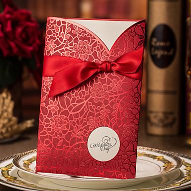 Hülle & Taschenformat Hochzeits-Einladungen Einladungskarten für die Verlobungsfeier Einladungskarten Moderner Stil Hartkartonpapier
