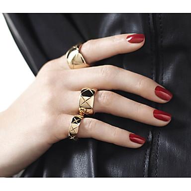 Prstenje Party / Dnevno / Kauzalni Jewelry Legura Žene Klasično prstenje 3pcs,Univerzalna veličina Zlatna / Srebrna