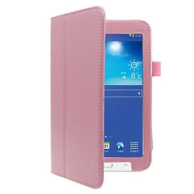 Hülle Für Samsung Galaxy Ganzkörper-Gehäuse Tablet-Hüllen Volltonfarbe Hart PU-Leder für Tab 3 Lite