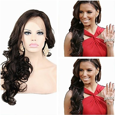 Human Hair Full Lace / Lace Front Wig Curly 130% / 150% Density Natural Hairline / African American Wig / 100% Hand Tied Short / Medium