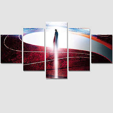 Ihmiste / Fantasy / Moderni Canvas Tulosta 5 paneeli Valmis Hang , Horizontal