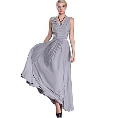 1a16b8680ee Γυναικεία Φόρεμα Καθημερινό / Απλό Μεγάλα Μεγέθη / Θήκη Μονόχρωμο ...