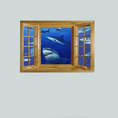 Животные Наклейки 3D наклейки Декоративные наклейки на стены материал Украшение дома Наклейка на стену