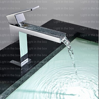 Contemporary Tub And Shower Waterfall Ceramic Valve One Hole Single Handle One Hole Chrome, Shower Faucet Bathtub Faucet Bathroom Sink