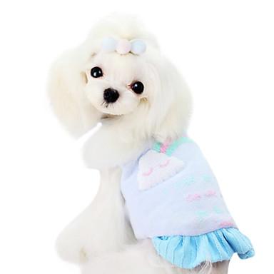 Koirat T-paita Keltainen / Sininen / Pinkki Koiran vaatteet Talvi Muoti