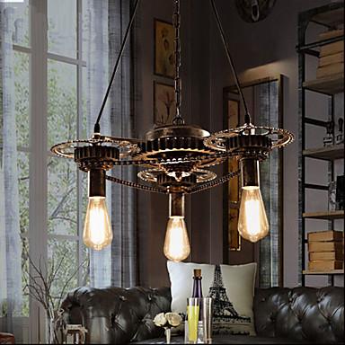 סגנון חלוד/בקתה וינטאג' קאנטרי מסורתי / קלסי רטרו סגנון קטן מנורות תלויות תאורה כלפי מעלה עבור סלון חדר שינה חדר אוכל משרד חדר ילדים