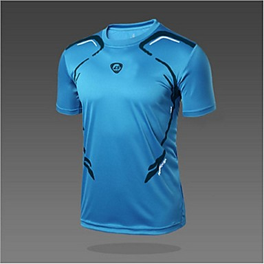 Miesten T-paita vaellukseen Ulko- Nopea kuivuminen Ultraviolettisäteilyn kestävä Hengittävä Pehmeä Pehmeys Hikeä siirtävä Kevyet