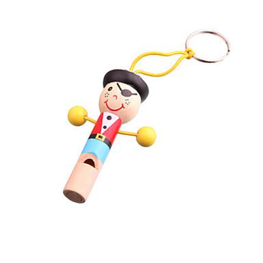 나무 다채로운 해적 휘파람 장난감 어린이를위한 악기 음악 장난감