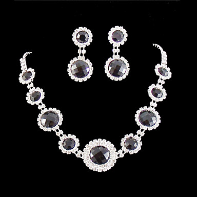 Women's Rhinestone Wedding Party Special Occasion Anniversary Birthday Engagement Gift Alloy Earrings Necklaces