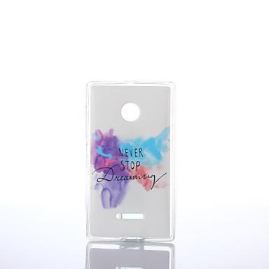 Varten Nokia kotelo kotelot kuoret IMD Takakuori Etui Sana / lause Pehmeä TPU varten Nokia Nokia Lumia 640 Nokia Lumia 535 Nokia Lumia 435