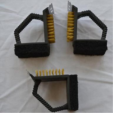 puhdistustyökalut grilli puhdistusharjaa työkalut 3 in 1 polttaa uuni