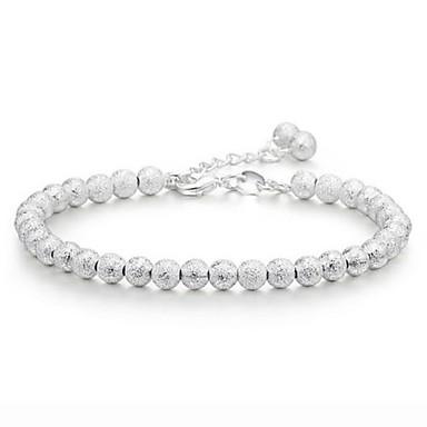 Damen Ketten- & Glieder-Armbänder versilbert Schmuck Hochzeit Modeschmuck Silber