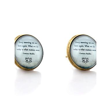 עגילים צמודים סגנון מינימליסטי תכשיטים ראשוניים אבני חן סינתטיות זכוכית סגסוגת תכשיטים חתונה Party יומי קזו'אל