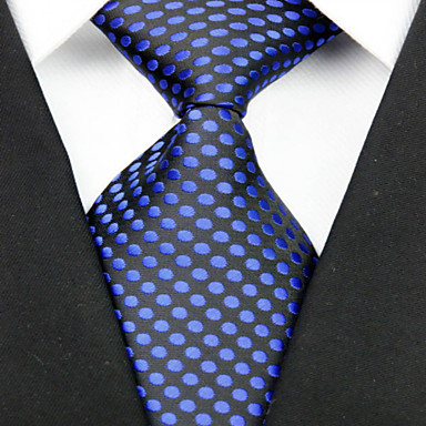 Gravata(Preto / Azul,Poliéster)Poás