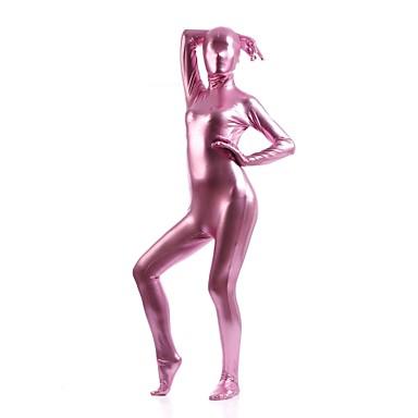 Kiiltävät Zentai asut Ninja Zentai Cosplay-asut Vaaleanpunainen Yhtenäinen Trikoot/Kokopuku / Zentai Elastaani / Kiiltävä metallinen