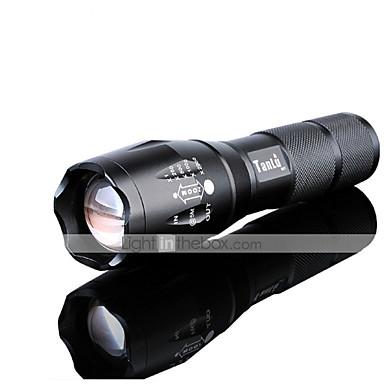 Lanternas LED LED 3000 lm 5 Modo Cree XM-L2 Com Pilha e Carregador Zoomable Foco Ajustável Recarregável Impermeável Visão Nocturna Super